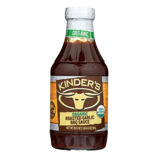 Kinders Barbeque Sauce - Organic Roasted Garlic Bbq Sauce - Case Of 6 - 20.5 Oz.
