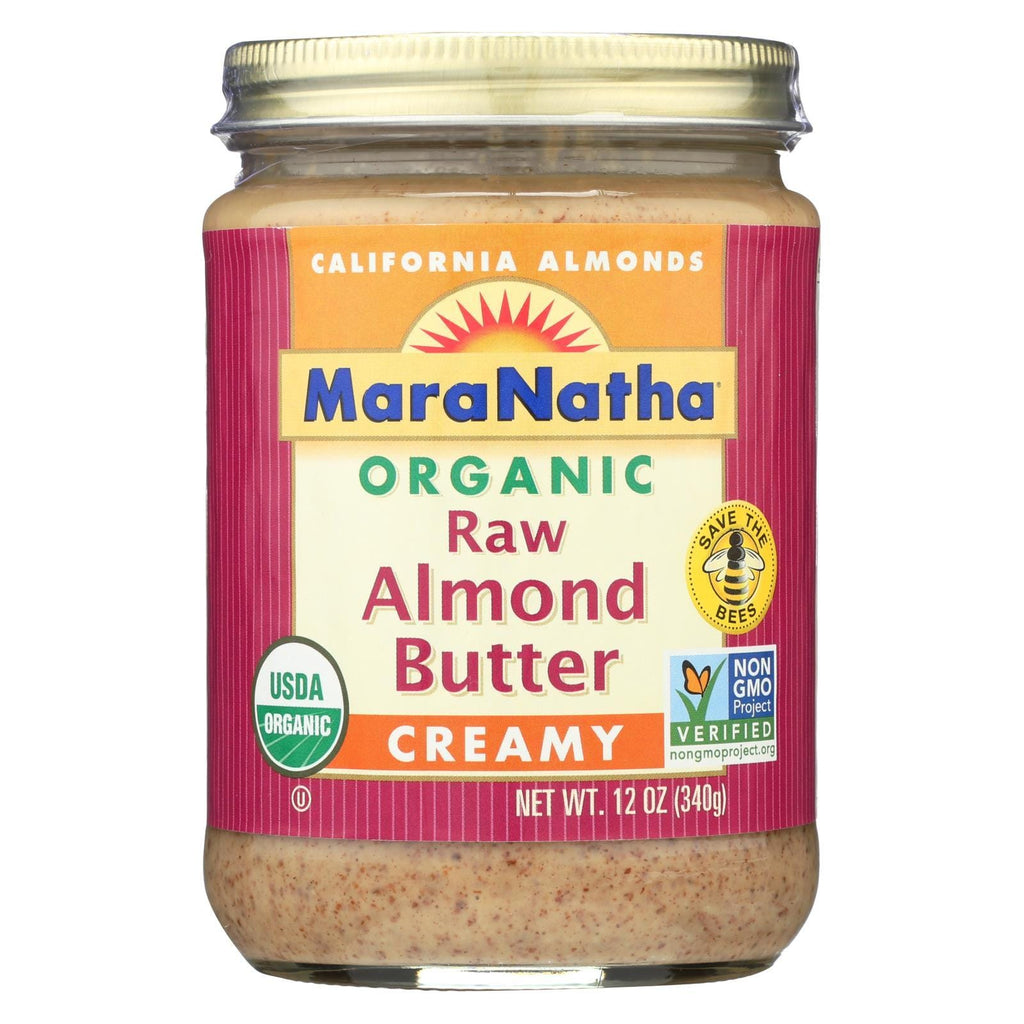 Maranatha Natural Foods Almond Butter - Creamy And Raw - Case Of 6 - 12 Oz.