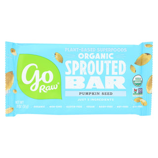 Go Raw - Organic Sprouted Bar - Pumpkin Seed - Case Of 20 - 1.8 Oz.