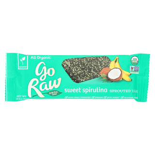 Go Raw - Organic Sprouted Bar - Sweet Spirulina - Case Of 10 - 0.493 Oz.