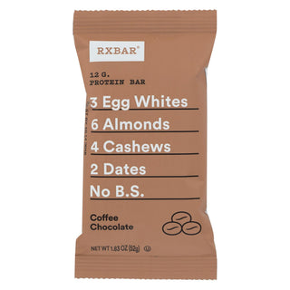 Rxbar - Protein Bar - Coffee Chocolate - Case Of 12 - 1.83 Oz.