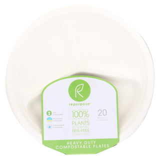 Repurpose Sectional Plates - Case Of 12 - 20 Count