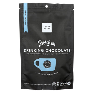 Cocoa Metro Belgian Drnkng Chocolate - Organic - Case Of 6 - 10 Oz