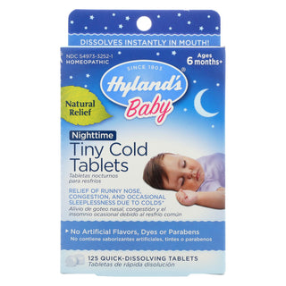 Hylands Homeopathic Nighttime Tiny Cold Tabs - 125 Tab