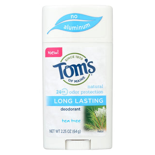 Tom's Of Maine Long Lasting Deodorant - Tea Tree - Case Of 6 - 2.25 Oz.
