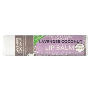 Soothing Touch Lavender Coconut Vegan Lip Balm  - Case Of 12 - .25 Oz