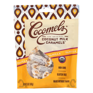Cocomel - Organic Coconut Milk Caramels - Vanilla - Case Of 6 - 3.5 Oz.