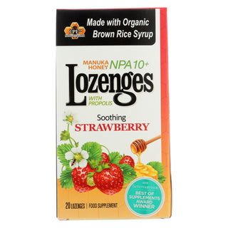 Pacific Resources International Manuka Honey Lozenges, Soothing Strawberry  - 1 Each - 20 Ct