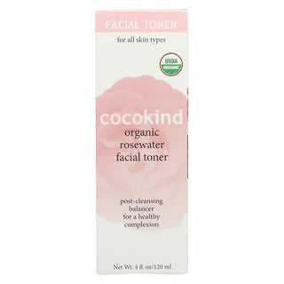 Cocokind Facial Tone - Organic - Rosewater - 4 Fl Oz