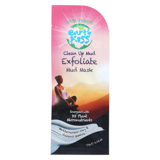 Earth Kiss Clean Up Mud Exfoliate Mud Mask - Case Of 12 - 0.59 Oz.