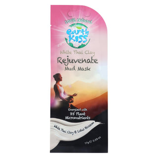 Earth Kiss White Thai Clay Rejuvenate Mud Mask - Case Of 12 - 0.59 Oz.