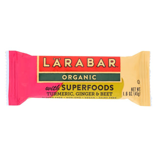 Larabar Organic With Super Foods - Turmeric And Ginger And Beet - Case Of 15 - 1.6 Oz.