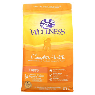 Wellness Pet Products Puppy Food - Deboned Chicken - Oatmeal And Salmon Meal Recipe - Case Of 6 - 5 Lb.