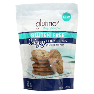 Glutino Chocolate Chip Crispy - Case Of 6 - 6 Oz.