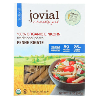 Jovial - Einkorn Penne Rigate - Whole Grain - Case Of 12 - 12 Oz.