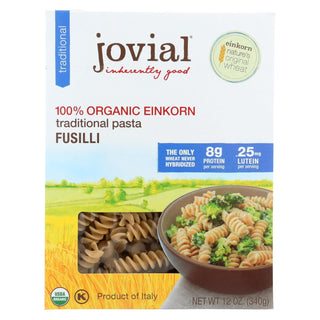 Jovial - Gluten Free Brown Rice Pasta - Fusilli - Case Of 12 - 12 Oz.