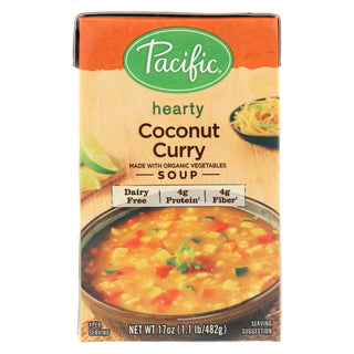 Pacific Natural Foods Soup - Coconut And Curry - Case Of 12 - 17 Oz.