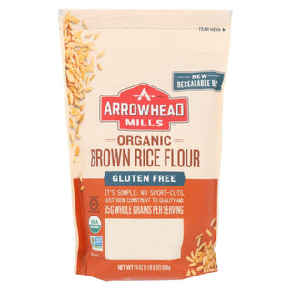 Arrowhead Mills - Organic Brown Rice Flour - Gluten Free - Case Of 6 - 24 Oz.
