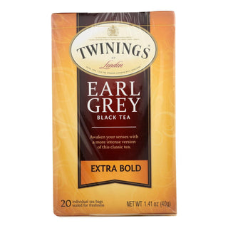 Twining's Tea Black Tea - Earl Grey Extra Bold - Case Of 6 - 20 Count