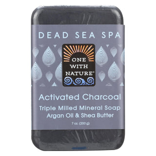 One With Nature Bar Soap - Charcoal - Case Of 6 - 7 Oz.