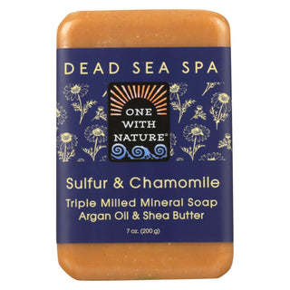 One With Nature Bar Soap - Chamomile And Sulfur - Case Of 6 - 7 Oz.