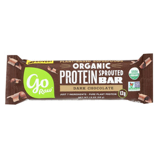 Go Raw - Organic Protein Bar - Dark Chocolate - Case Of 12 - 1.9 Oz.