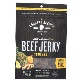 Country Archer Beef Jerky - Teriyaki - Case Of 12 - 3 Oz
