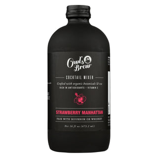 Owl's Brew Cktl Mixr - Pink & Black - Case Of 6 - 16 Fl Oz