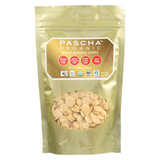 Pascha Organic Rice Milk Chocolate Baking Chips - White Chocolate - Case Of 8 - 7 Oz