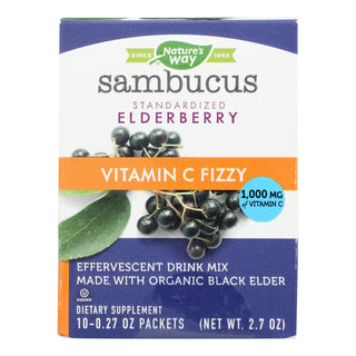Nature's Way Sambucus Fizzy Immune, Elderberry  - 1 Each - 10 Ct