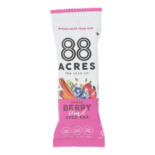 88 Acres - Bars - Triple Berry - Case Of 9 - 1.6 Oz.
