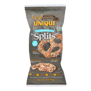 Unique Pretzels - Pretzels - Extra Salt Splits - Case Of 12 - 11 Oz.
