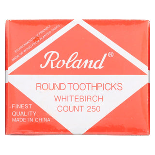 Roland Products - Toothpicks Round Birchwd - Case Of 48 - 25o Ct