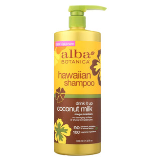Alba Botanica - Hawaiian Shampoo - Drink It Up Coconut Milk - 32 Fl Oz