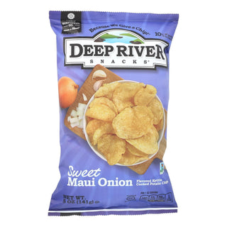 Deep River Snacks Sweet Maui Onion Kettle Chips  - Case Of 12 - 5 Oz
