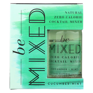 Be Mixed - Cocktail Mix - Cucumber Mint - Case Of 3 - 4-4 Fl Oz.
