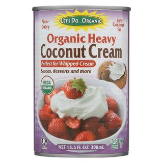 Let's Do Organic Coconut Cream - Organic - Heavy - Case Of 12 - 13.5 Fl Oz