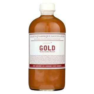 Lillies Q Gold Barbecue Sauce - Case Of 6 - 16 Fl Oz.