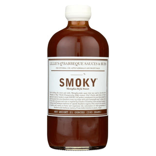 Lillies Q Barbeque Sauce - Smoky Bbq - Case Of 6 - 21 Oz.