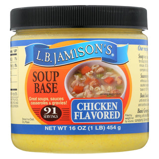 Jamison Soup Base - Chicken - Case Of 6 - 16 Fl Oz