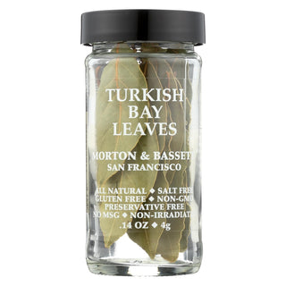 Morton And Bassett Turkish Bay Leaves - Case Of 3 - .14 Oz