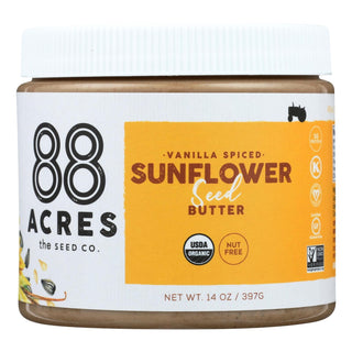 88 Acres Seed Butter - Vanilla Spice Sunflower - Case Of 6 - 14 Oz.