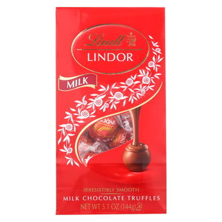 Lindt - Truffles Milk Chocolate Bag - Case Of 6-5.1 Oz