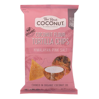 The Real Coconut Organic Himalayan Pink Salt Tortilla Chips  - Case Of 12 - 5.5 Oz