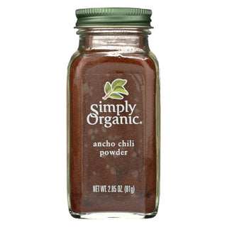 Organic Ancho Chili Powder From Simply Organic  - Case Of 6 - 2.85 Oz