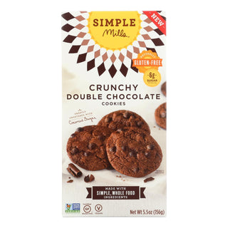 Simple Mills Cookies - Crunchy Double Chocolate - Case Of 6 - 5.5 Oz