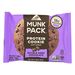 Munk Pack - Protein Cookie - Double Dark Chocolate - Case Of 6 - 2.96 Oz.