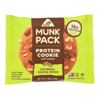 Munk Pack - Protein Cookie - Oatmeal Raisin Spice - Case Of 6 - 2.96 Oz.
