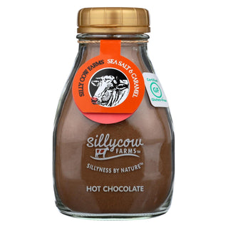 Sillycow Farms Hot Chocolate - Caramel & Sea Salt - Case Of 6 - 16.9 Oz