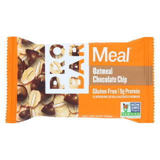 Probar Meal Bar Oatmeal Chocolate Chip  - Case Of 12 - 3 Oz